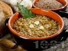 Рецепта Икономична яхния от леща с чесън и чубрица